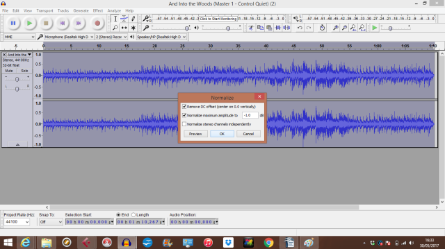 And Into the Woods (Master 4 - Audacity D)